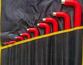 Bộ (dây) vặn đầu lục giác lồi 9 cái bọc cách điện - B5011