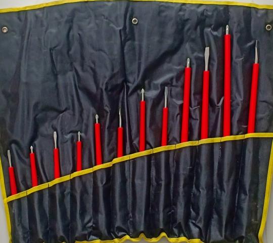 Bộ (dây) vít dẹp, vít bake bọc nhựa 12 cái- B5014